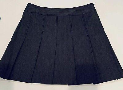 City DKNY Donna Karan Womens Sz 12 Black White Pleated Skirt NWOT