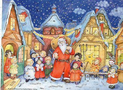 1 Sellmer Adventskalender mit Glimmer Der Weihnachtsmann ist da Nr.91