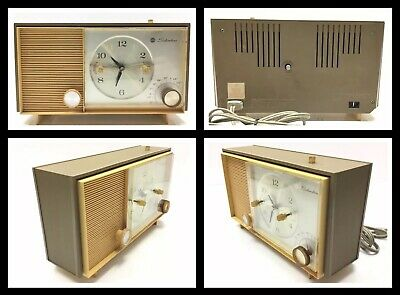 Vintage Silvertone 2035 AM Tube Radio Clock Alarm, Working Nice Condition