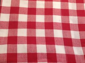 valance curtains red white gingham check lined kitchen