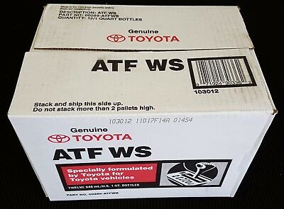 12 Quarts Toyota/Scion Automatic Transmission Fluid ATF World Standard  OEM NEW!