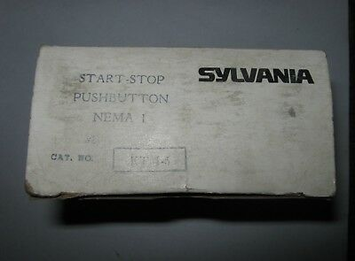 Sylvaniaclark Ktm-5 Start-stop Pushbutton Switch Nema 1 New