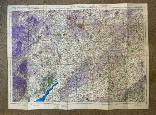WW2 RAF ATA  AIR TRANSPORT AUXILIARY WAR  MAP MIDLANDS SOUTH ORIGINAL