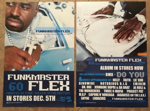 FUNKMASTER FLEX Rare 2000 DOUBLE SIDE PROMO POSTER 4 Funk CD 24x36 NEVER DISPLAY