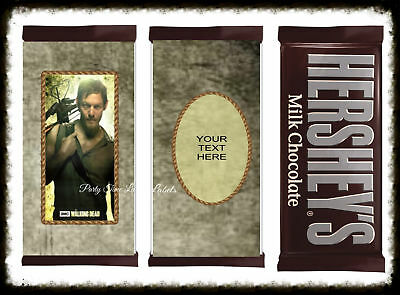 Halloween Candy Bar Labels (Walking Dead Daryl Dixon Halloween Candy Bar Wrappers Party Favor)