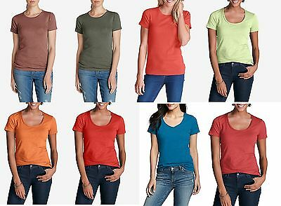 Essential Scoop Neck Short - EDDIE BAUER Essential Crew,Scoop Neck Short Sleeve T-shirts Regular,Petite,Tall