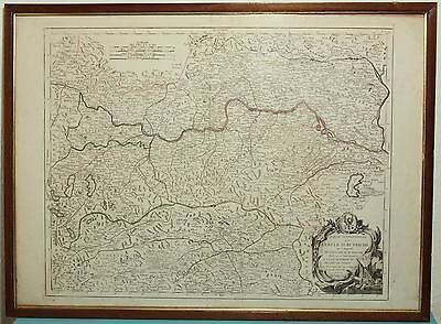 Kupferstich Karte CERCLE D`AUTRICHE - Pietro SANTINI par M. REMONDINI  1777