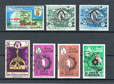 Bahrain mixed selection of seven stamps, very fine used (VFU)