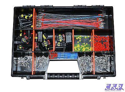 AMP Superseal 1-polig bis 4-polig Sortiment Box Kasten Kabel konfektioniert KFZ