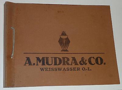 RARITÄT: alter Katalog A.MUDRA&CO. WEISSWASSER 1936 ca. 90 Seiten mit Preisen