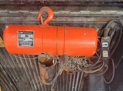 Cm 18 Ton Electric Chain Hoist W Pendant Control - A