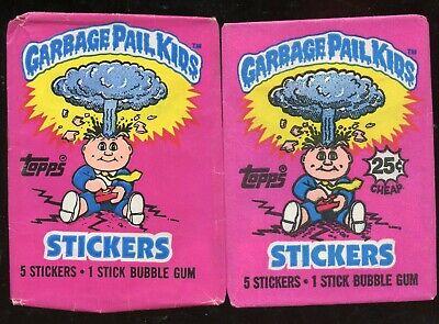 "(2) 1985 Topps ""GARBAGE PAIL KIDS~SERIES 1"" VARIATION Wrappers  ((BEAUTIFUL!!))"