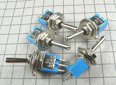 Switch Micro Mini Toggle Spdt On-on 3a 125vac 5pcs Per Lot