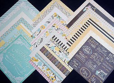 12X12 Scrapbook Paper Cardstock Sunny Dreams Floral Bridal Baby Shower Spring 24 (Floral Scrapbook Paper)