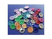 Job Lot Sunflower Beads Various Colours 10mm See List
