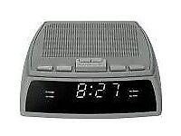 FM Clock Radio With LED Display - Grey- Brand New