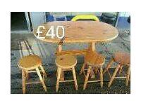 Two table and stools please read