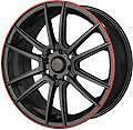 "18"" Akuza Wheels - 5X114.3 5X100 - Black/Red - BRAND NEW!"