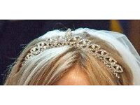 Pearl and Diamond Detail Wedding Tiara