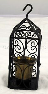 Hanging-Cage-Style-Candle-Votive-Holder-w-Brass-Cup-Inside-Tea-Light