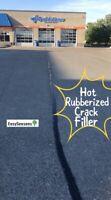 Hot Rubberized Crack Filler for Asphalt Parking Lots & Driveways