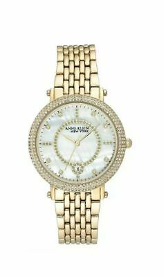 Anne Klein New York Yellow Gold-Tone Ladies Watch 12/2312MPGB
