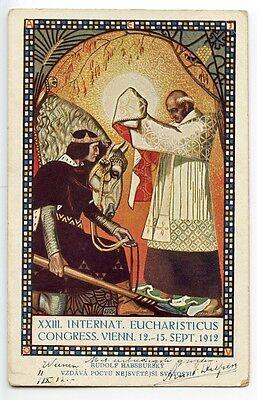 AUSTRIA 1912 10h commemorative card XXIII Int'l Eucharistic Congress to Holland