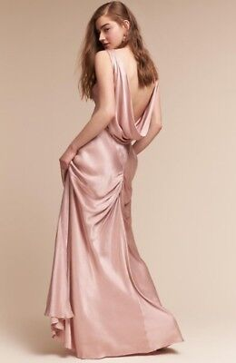 NEW BHLDN Ghost London Edie Gown Dress Boudoir Pink (Gown Pink)