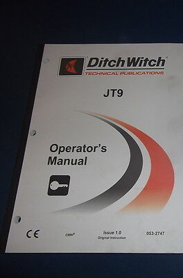 Ditch Witch Jt9 Directional Drill Operation Maintenance Book Manual Catalog