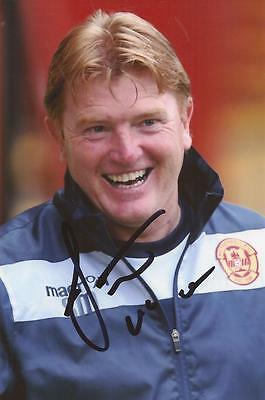 MOTHERWELL: STUART McCALL SIGNED 6x4 ACTION PHOTO+COA