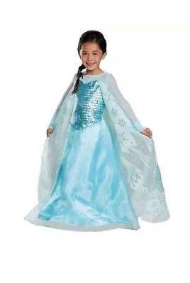 Disney Frozen Elsa Halloween Costume Target Size Medium 7-8 Snowflake Ring New