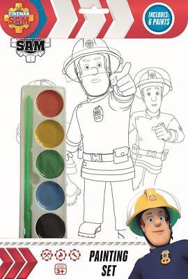 Fireman Sam Kinder Mädchen Jungen Malerei Satz Activity Alter 3+ ()