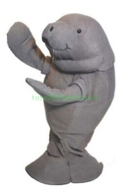 ADS Zoo Manatee Mascot Costume Adult Sea Lion Costplay Fancy Dress Unisex Parade - Costplay Costume