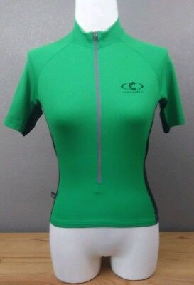 1dffb8269a9f51 Cannondale cycling biking vertex women s size small S green 3 4 zip made USA