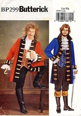 Butterick Herren Piraten Kostüm Muster BP299 Größe L-XL (Butterick Herren Kostüm Muster)