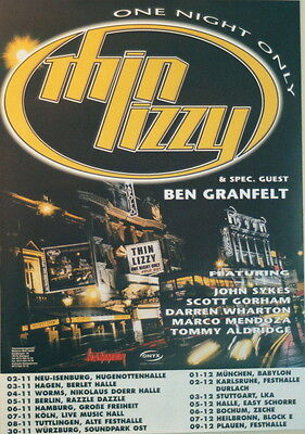 THIN LIZZY CONCERT TOUR POSTER 2000 ONE NIGHT ONLY