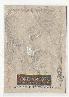 LOTR Lord of the Rings Masterpieces 2 Topps Sketch Card by Darla Ecklund 1/1
