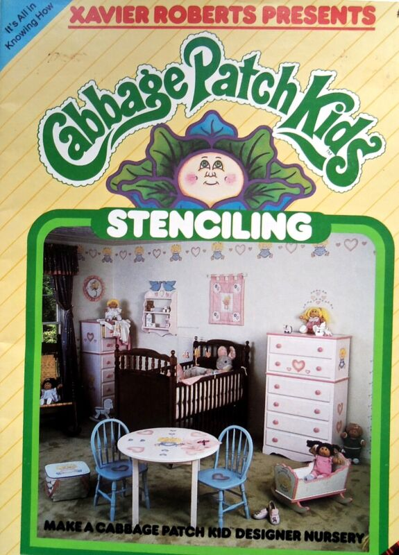 Stenciling   From The Cabbage Patch Kids   Pattern Leaflet  CPK Designer Nursery