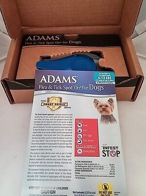Adams Flea and Tick Spot On for Dogs, Small Dogs 6-12 Pounds, 6 Month Supply,
