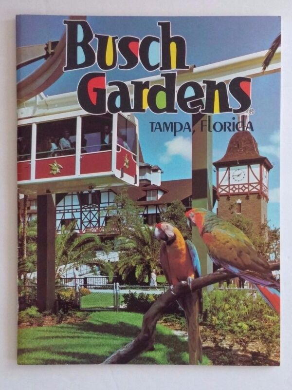 Busch Gardens, Tampa Florida Souvenir Book Vintage 1960s Color Pictorial 28 Page