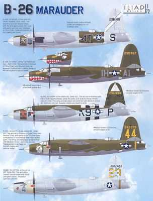 Iliad Decals 1/72 MARTIN B-26 MARUADER American Medium Bomber for sale  USA