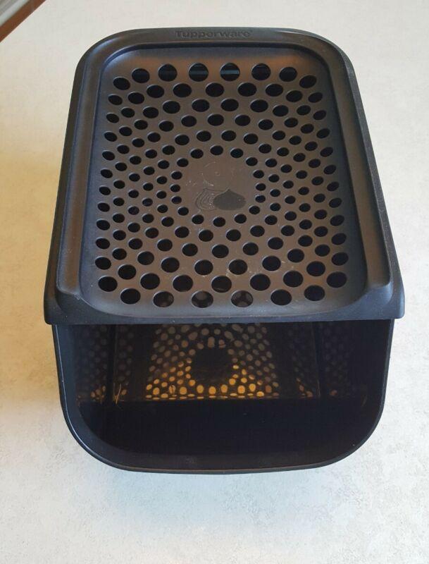 Tupperware Modular Mates Access Mate Onion Bin Keeper 3 / 5.5 L  Black