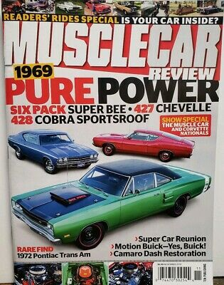 Muscle Car Review Nov 2019 Pure Power Super Bee Chevelle Cobra FREE SHIPPING -