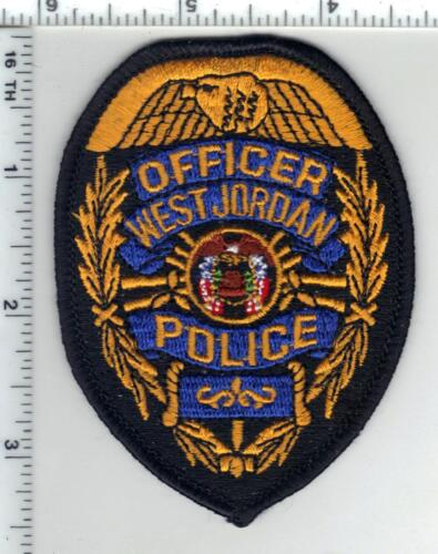 West Jordan Police (Utah) Officer Shirt/Jacket Patch from the 1980
