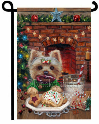 YORKIE FLAG for garden yard decor Yorkshire Terrierdog art Christmas cookies