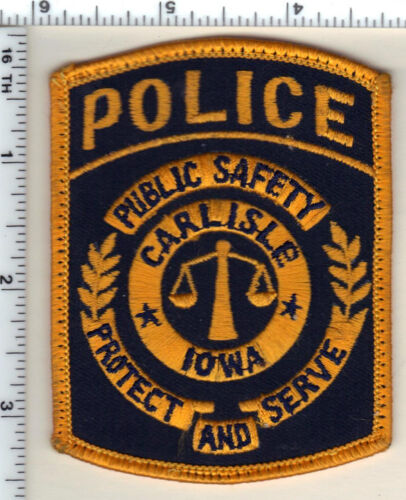 Carlisle Police (Iowa) uniform take-off Shoulder Patch from 1990