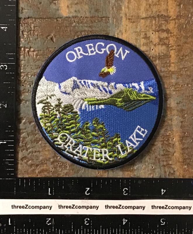 Vintage Crater Lake Oregon Travel Souvenir Patch OR