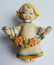 Vintage Depose Italy Angel Fairy W/ Flower Garland ...