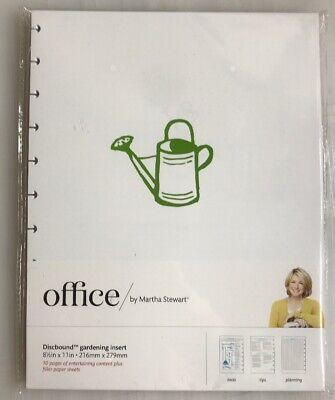 Martha Stewart Office Discbound Notebook Gardening Insert Filler Pages 8.5 X 11