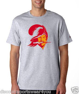 Tampa Bay Buccaneers Throwback Logo Champion T Shirt Mens Short Sleeve Tee